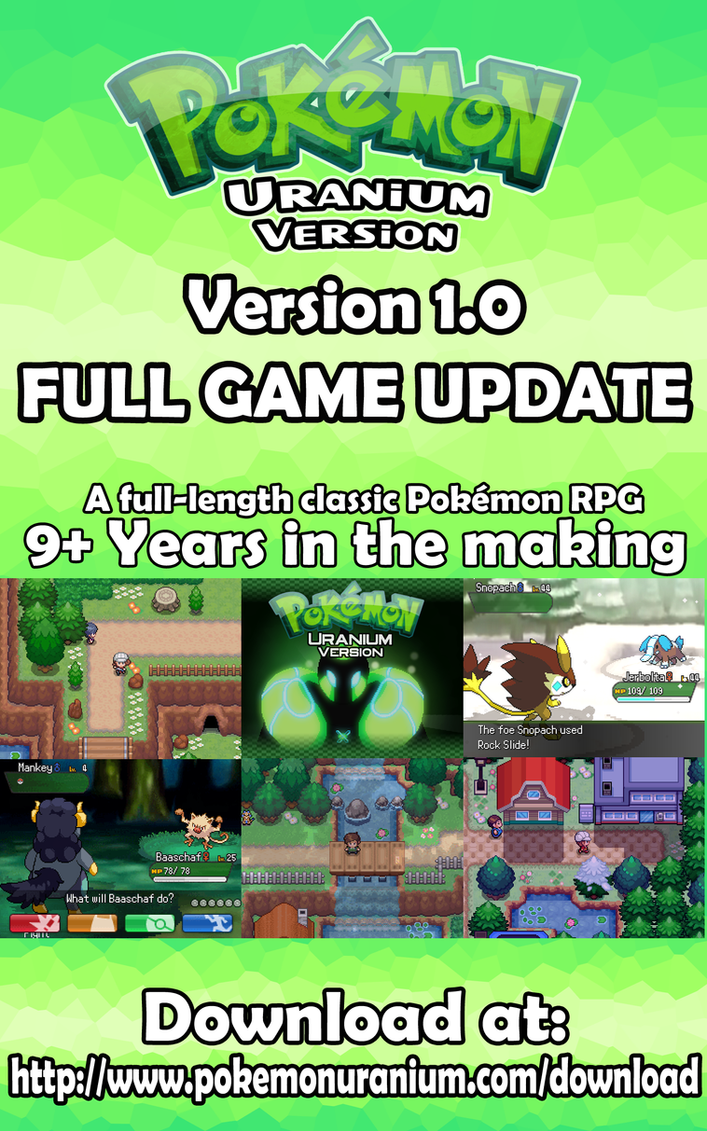 Pokemon Uranium FULL GAME Available Now by Involuntary-Twitch