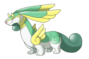 [Fakemon] Luxelong by Involuntary-Twitch