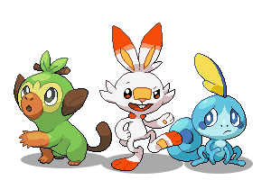 [Pixel] Generation 8 Starters by Involuntary-Twitch