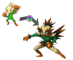 [Fakemon] Mega Garlikid by Involuntary-Twitch