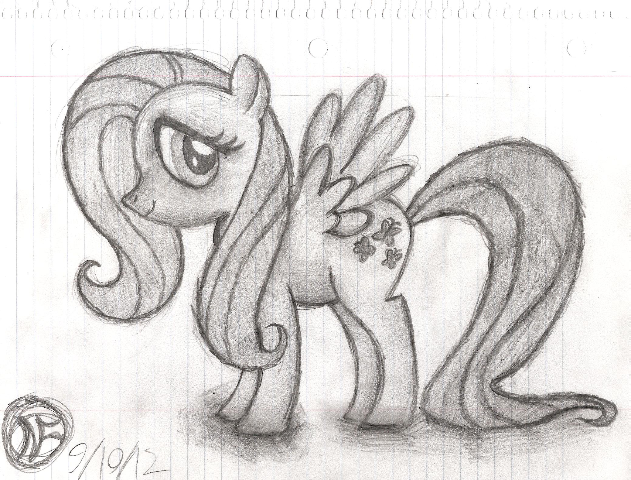 Fluttershy - Sketch by DAFORCEFilms