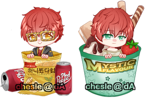 [Mystic Mesenger] Choi twins ft. food! by Chesle