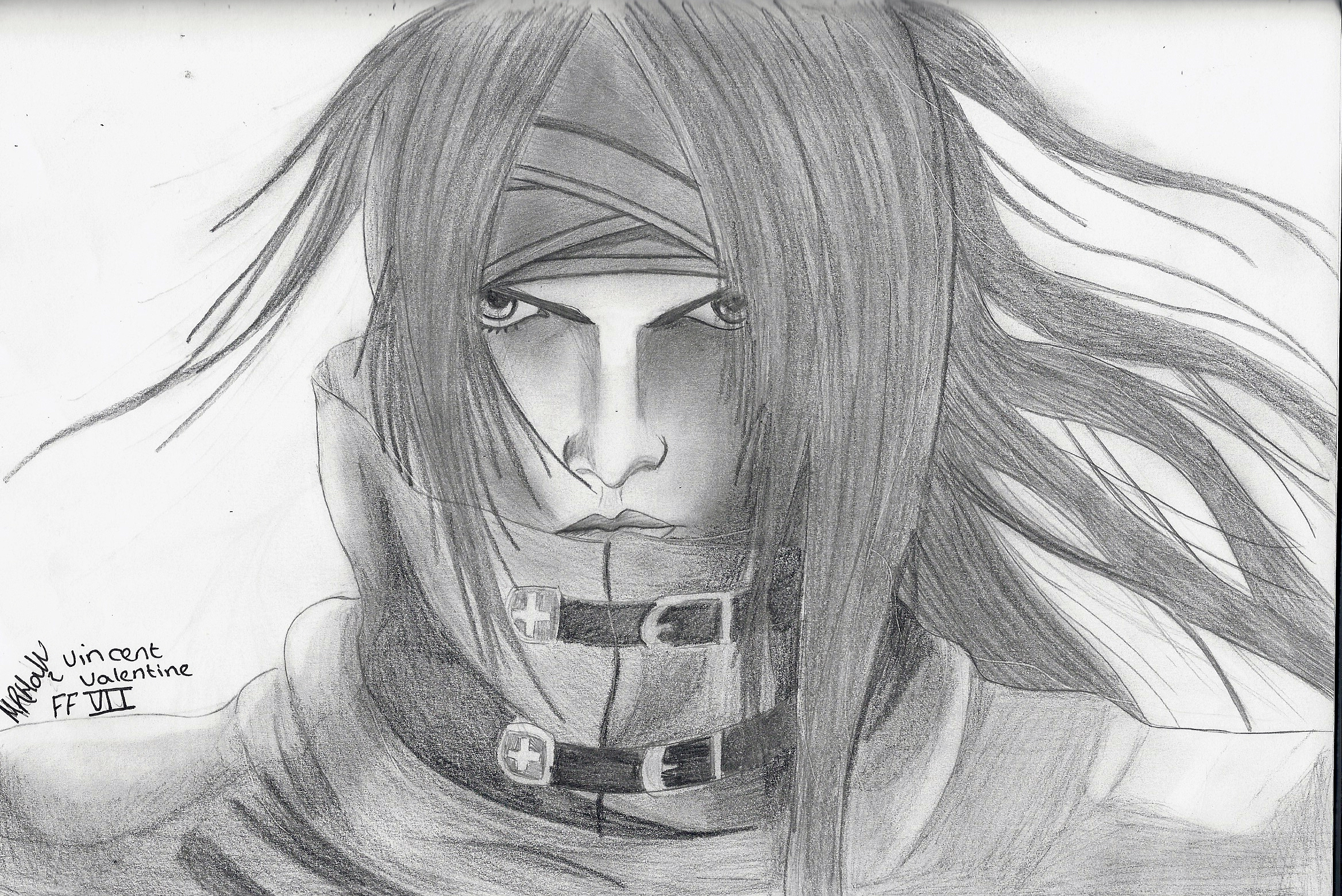 vincent ff7 final fantasy drawings part1 by