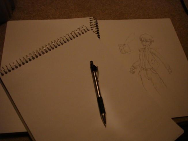 Drawing pads + pencil