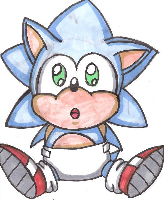 Baby Sonic By Broken Hedgehog On Deviantart