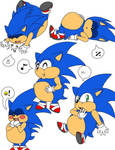 Chubby Sonic Poses