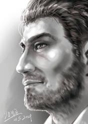 Random bearded guy by tsukasa1608