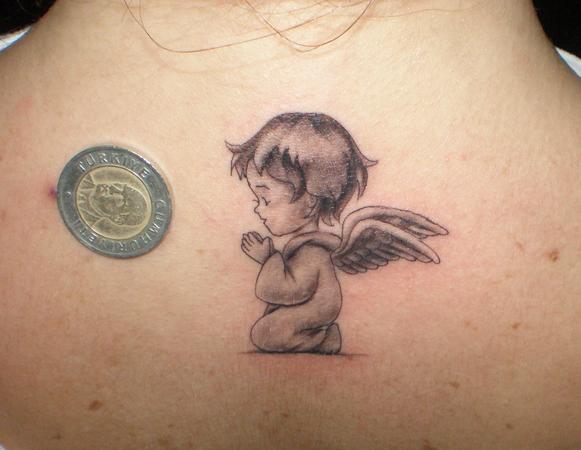baby angel tattoo 2