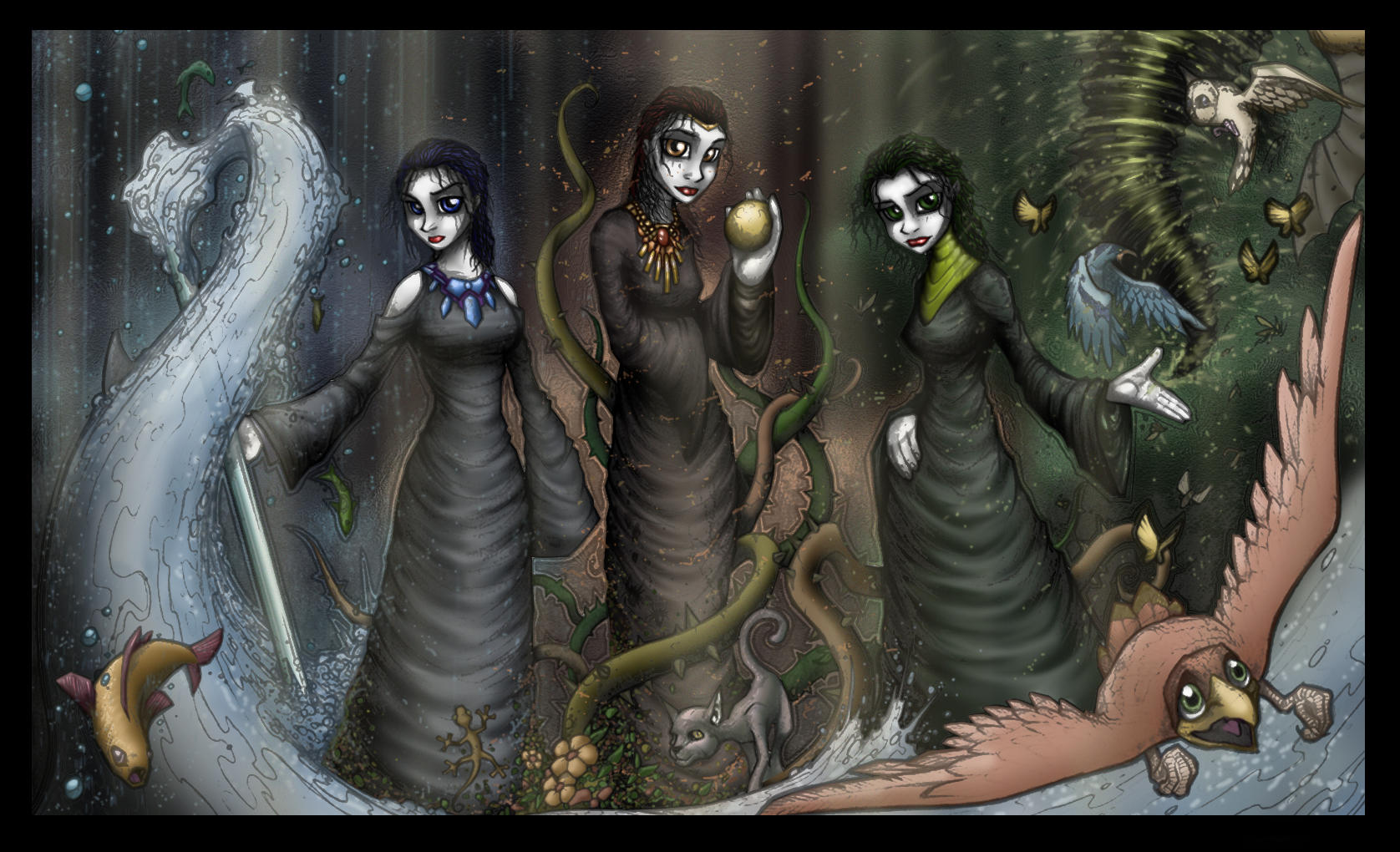 Elemental Witches by genesis