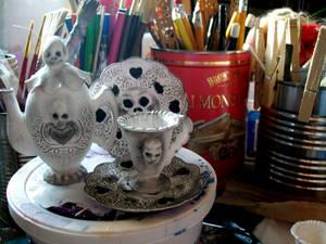 Halloween Tea Set. WIP