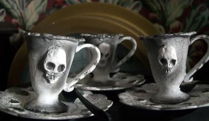 Gloomy Goth Dolls' Tea Set
