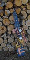 Steampunk Sniper Rifle - Wood setting