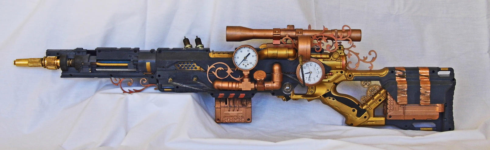 Steampunk Sniper Rifle by vanbangerburger