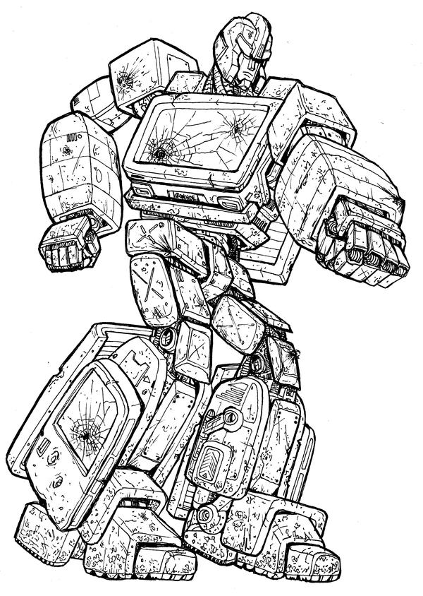 ironhide coloring pages battered ironhide by charger426 on deviantart