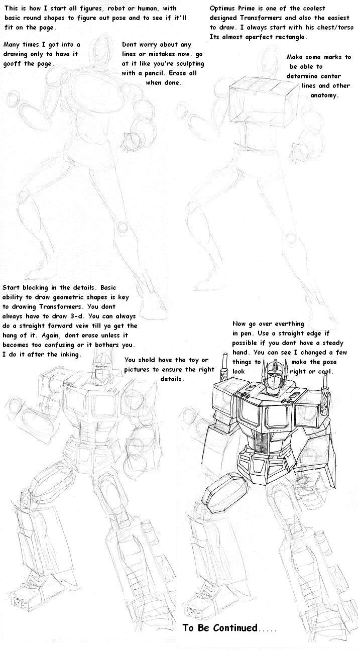 Optimus Prime Tutorial part 1 by Charger426