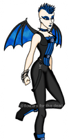 Blue Bat Girl by fledermaus