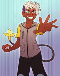 Trainer Grey wants to battle! by TeeterGlance