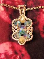 Delicate Art Nouveau Style Pendant by Elbenlady-Elanor