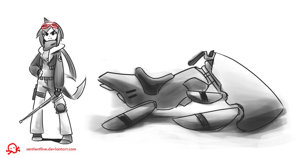 RS Sketch 3 - Emi by SentientLine