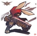 rabbit with a shotgun