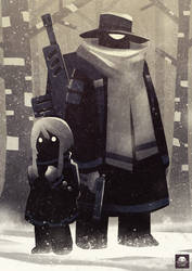 The Triangle Man and the Little Girl