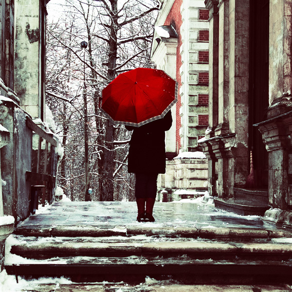 Girl with red umbrella by inbrainstorm on deviantart for Painting red umbrella
