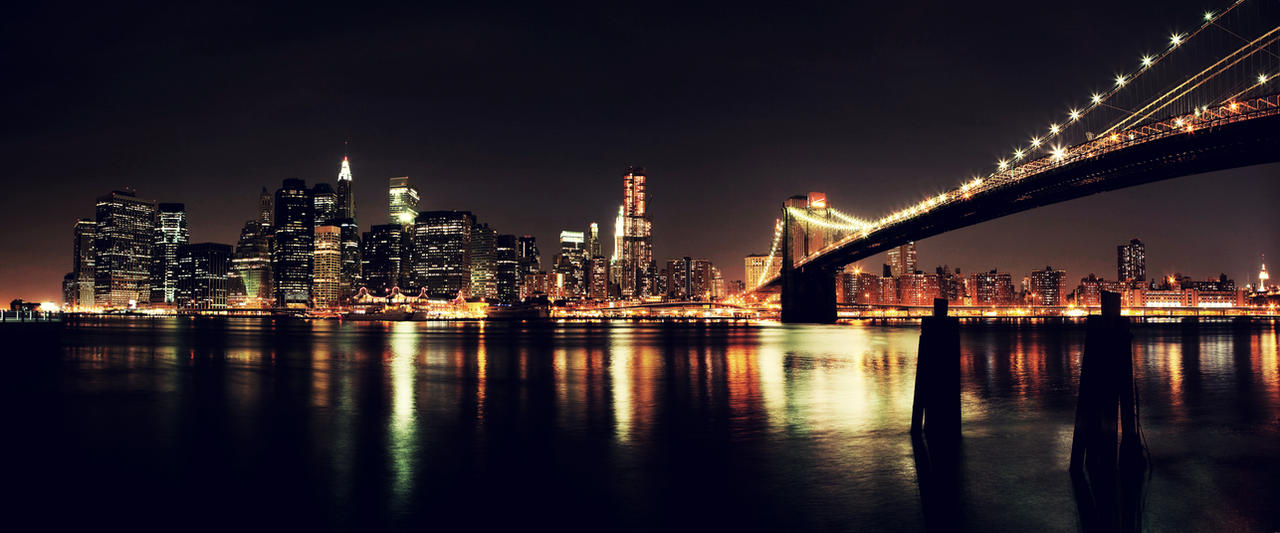 Night view of New York