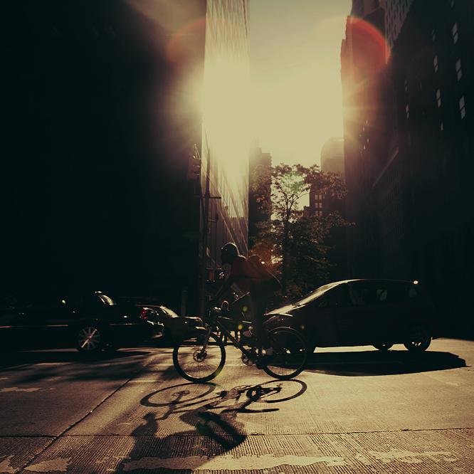 New York City: The Bicyclist. by inbrainstorm