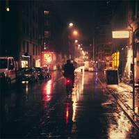 Copenhagen: Rainy Night. by inbrainstorm