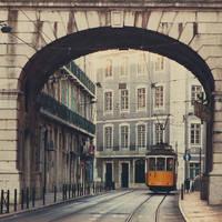 Lisbon: The tram.