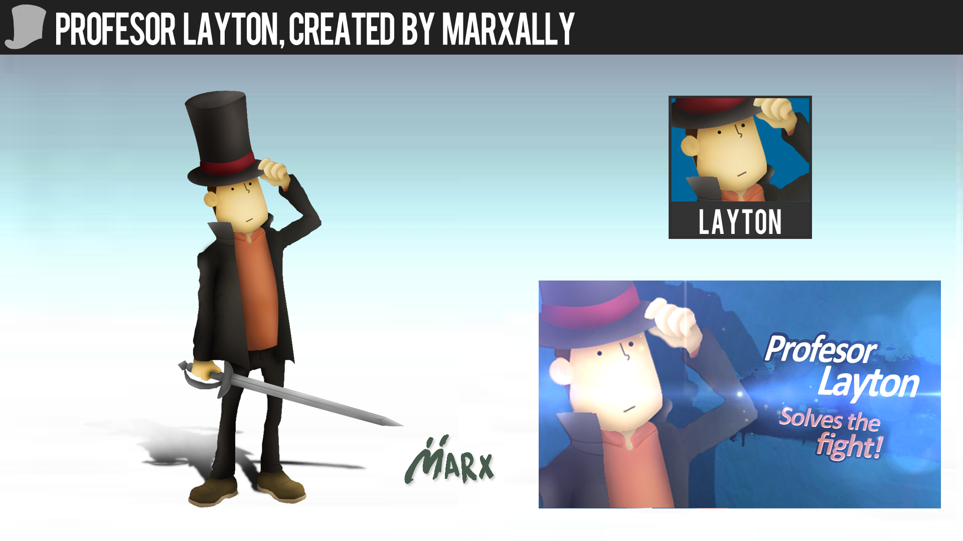 Profesor Layton | Smashified by MarxallyHD