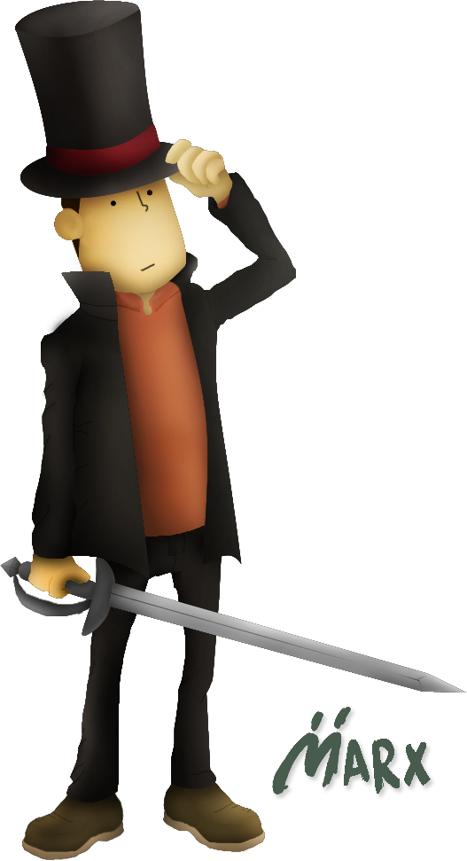 Profesor Layton | Smashified TRANSPARENT *edited* by MarxallyHD
