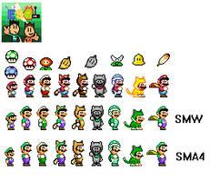 Super Mario World Sprites by ElectricStaticGamer