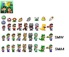Super Mario World Sprites By Electricstaticgamer On Deviantart