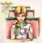 K/S Advent 2016 - Jim in a cafe