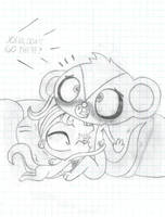Sunil and Vinnie during horror movie by ShiningBlaze567