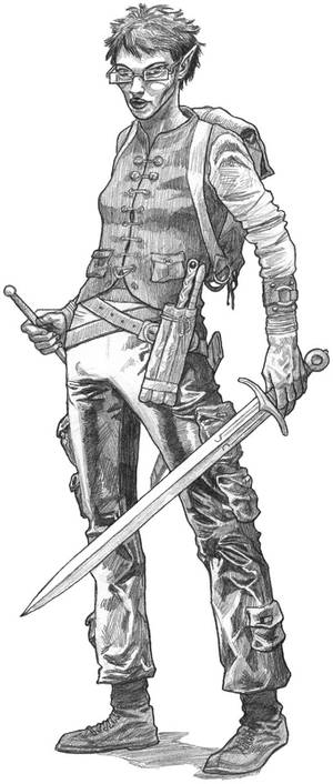 Original pencil drawing for sale: Spellmaster
