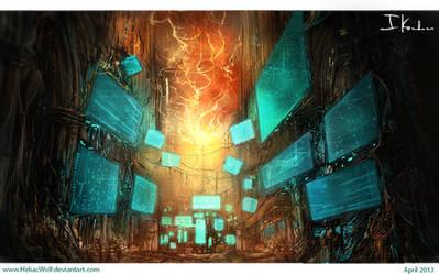 Alien Lab by HeliacWolf