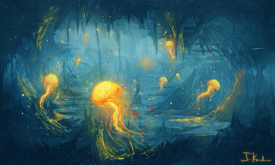 Jelly fish art for Jelly fish art