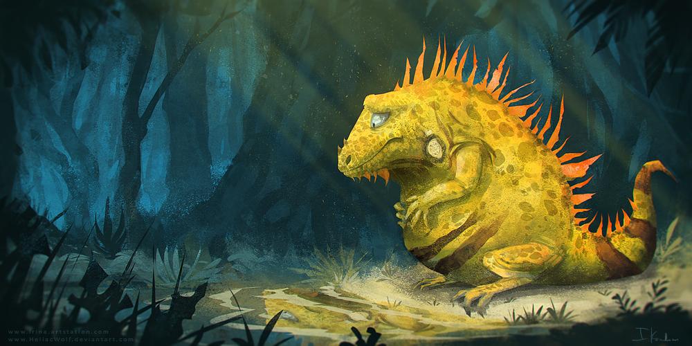 Iguana by HeliacWolf