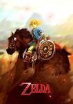 The Legend of Zelda (U) - Link and Epona