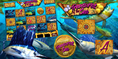 Sportfishing themed Electronic Pull Tab Game by ArtistikAssistance