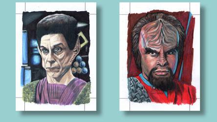 Yelgrun Worf Star Trek Deep Space Nine Sketch card by ArtistikAssistance
