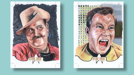 Kirk Mudd Star Trek original series Sketch cards by ArtistikAssistance