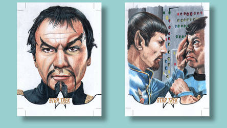 Spock Bones Star Trek original series Sketch card