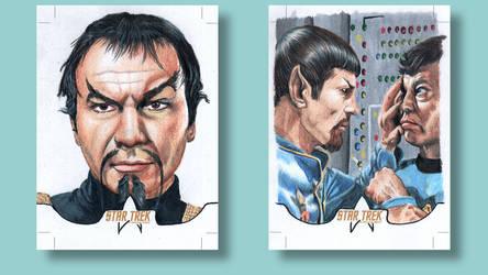 Spock Bones Star Trek original series Sketch card by ArtistikAssistance