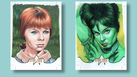 Colt Marta Star Trek original series Sketch cards by ArtistikAssistance
