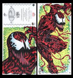Carnage  Marvel Upper Deck three panel sketch card by ArtistikAssistance