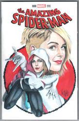 Amazing Spider-man Spider-Gwen Sketch cover