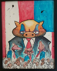 Nation of sheep, ruled by wolves, owned by pigs by DeadRabbit1978